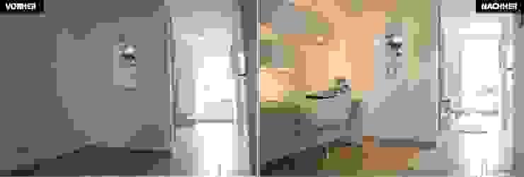 Flur Vergleich vorher/nachher Moderne Schlafzimmer von raumwerte Home Staging Modern