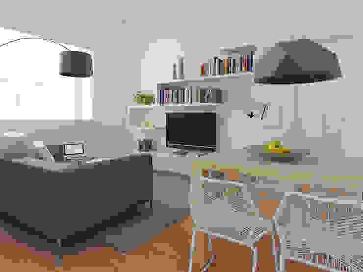 Zona giorno Case moderne di CSP2 studio Moderno