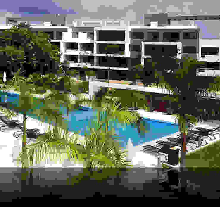 Zonas comunes con piscina de gs arquitectos Moderno