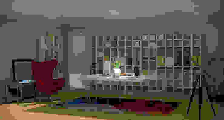 Portuguese House - Home Office Santiago | Interior Design Studio Casas ecléticas