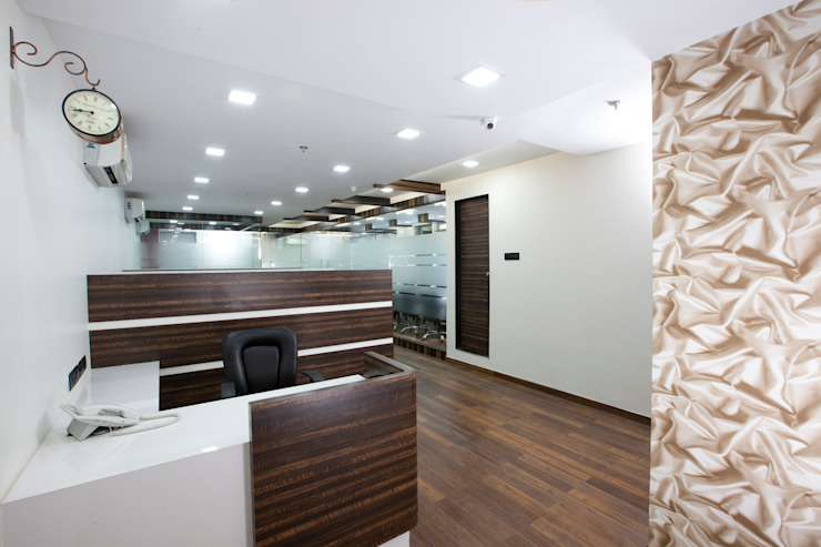 View from reception by Squaare Interior Modern