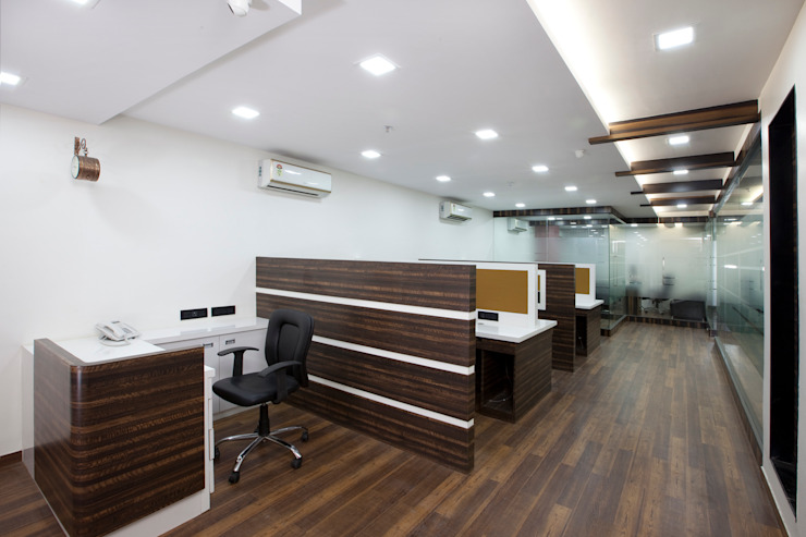 View from conference room's entrance. by Squaare Interior Modern