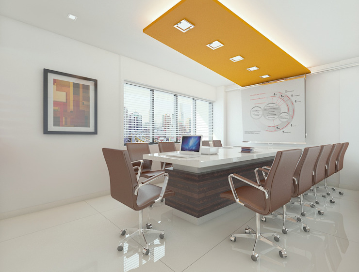 Conference room: modern  by Squaare Interior,Modern