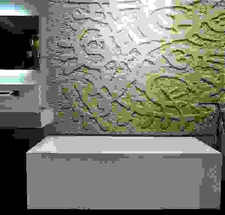 Art & Bathroom Pareti & Pavimenti in stile moderno di CARVED STONES Moderno