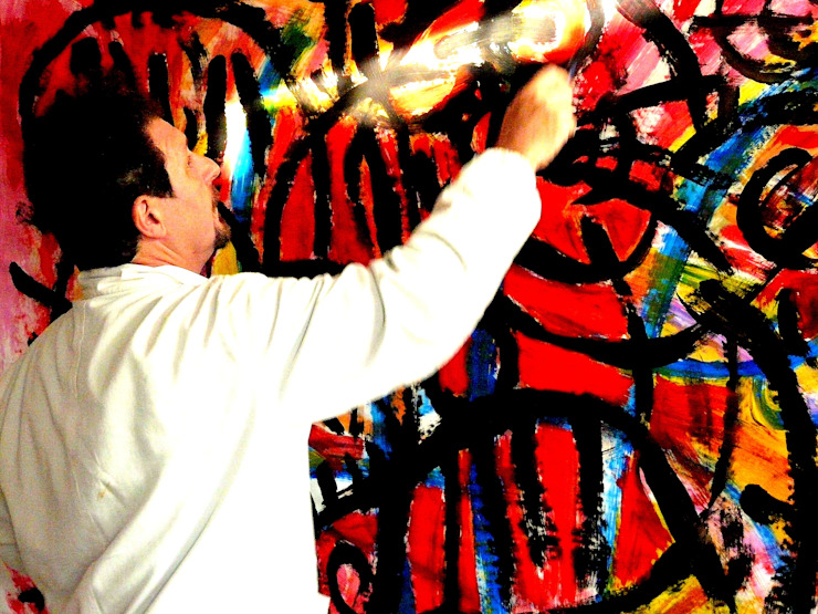 Action painting di CARVED STONES Moderno