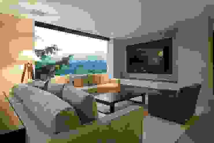 Sala de TV de Rhyzoma - Arquitectura y Diseño Moderno