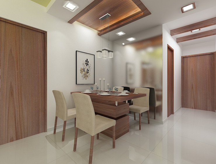 Dining area Houses by Squaare Interior