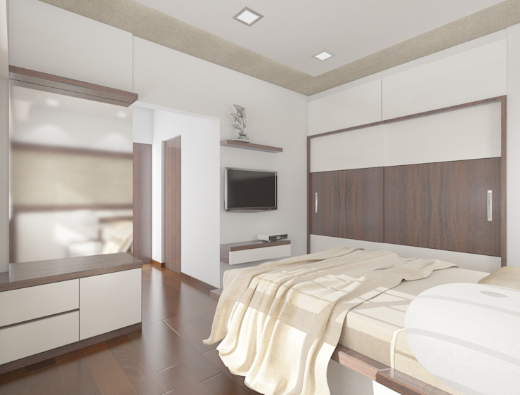 Master bedroom Houses by Squaare Interior