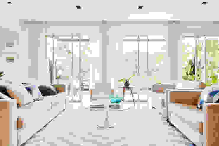 mmagalhães estúdio_Apartamento Parque Salas de estar modernas por mmagalhães estúdio Moderno