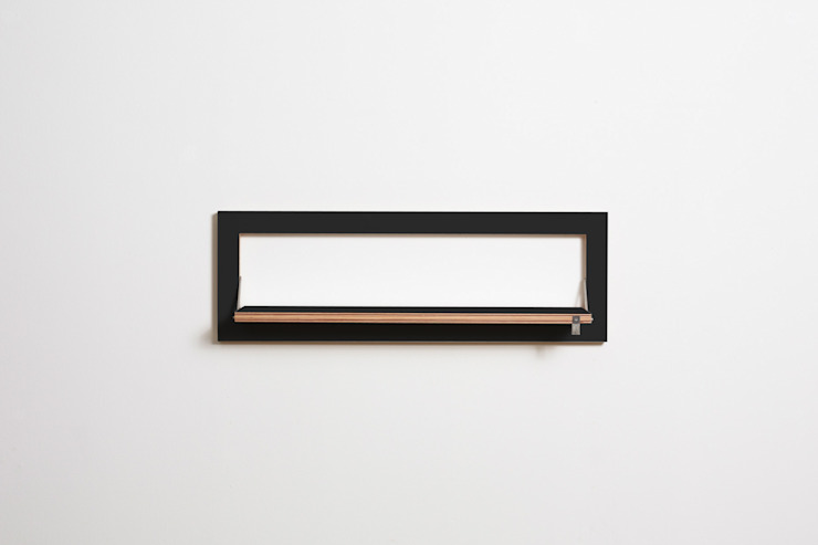 Fläpps Shelf 80x27x1 – Black AMBIVALENZ HouseholdStorage Plywood Black