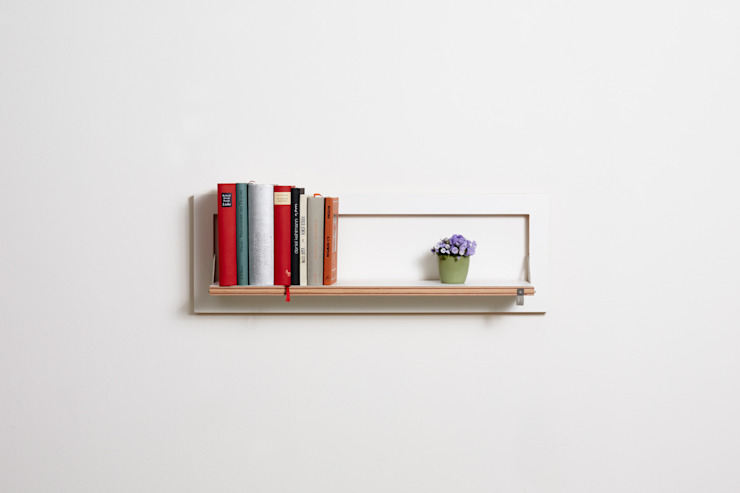 Fläpps Shelf 80x27x1 – White AMBIVALENZ HouseholdStorage Plywood White