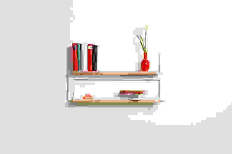 Fläpps Shelf 80x40x2 – White de AMBIVALENZ Minimalista Contrachapado