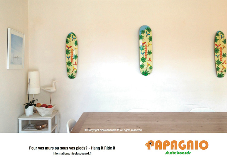 Papagaio skateboards limited edition n°1:  de style tropical par Nicolas Douard, Tropical