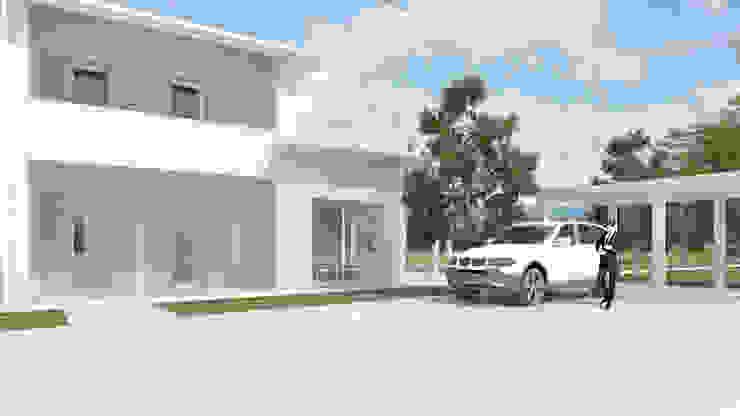 LAND HOUSE DESIGN DEL PAESAGGIO Case in stile minimalista di One Farm Design Minimalista
