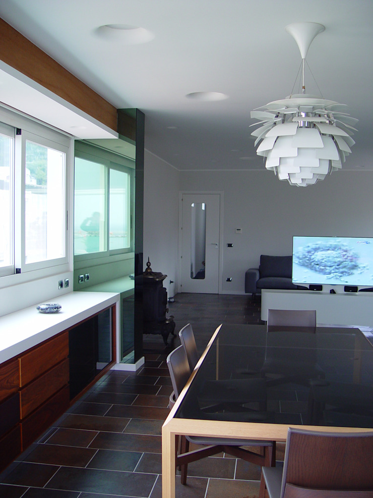 Casa del Capitano Soggiorno moderno di Stefano Costantino Architetto Moderno