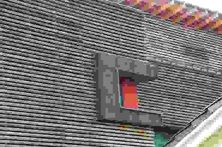 CorTen Fenstereck Ausgefallene Häuser von arché techné néos Ausgefallen