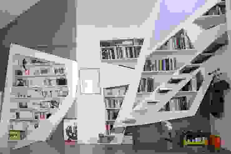 Vue de la bibliothèque Maisons modernes par Galaktik Moderne