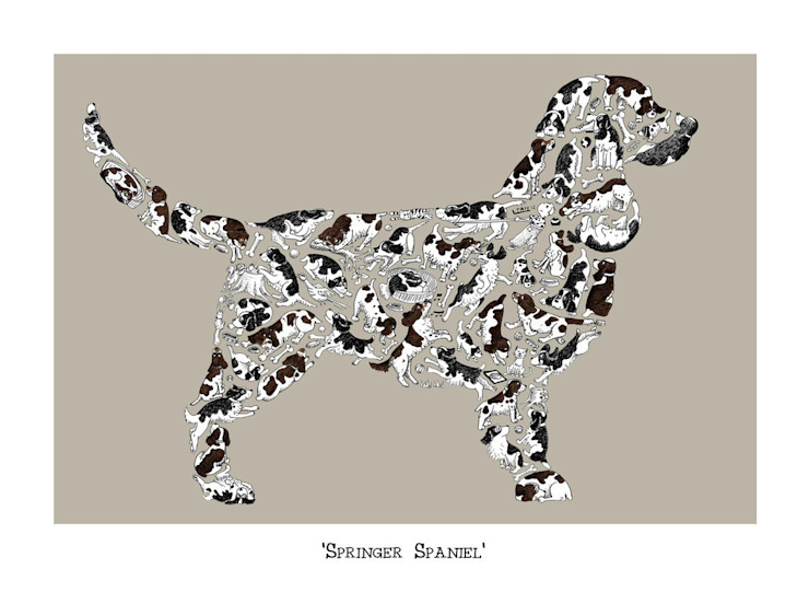 Louise Tate Springer Spaniel Print: country  by Anthea's Home Store, Country