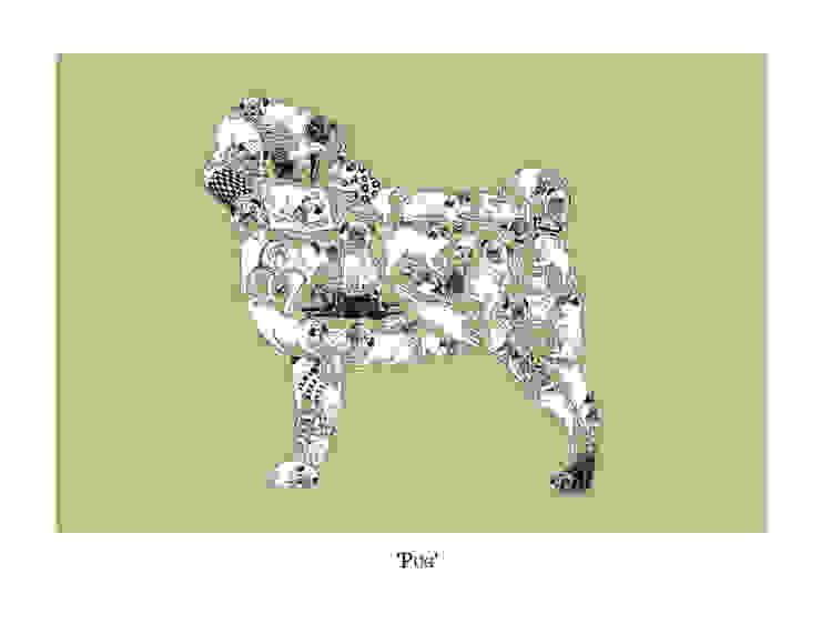 Louise Tate Pug Print par Anthea's Home Store Rural