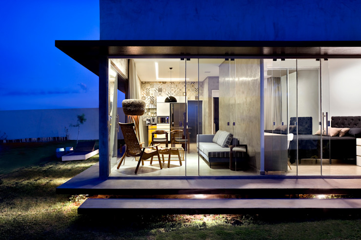 Box House Casas industriais por SAINZ arquitetura Industrial