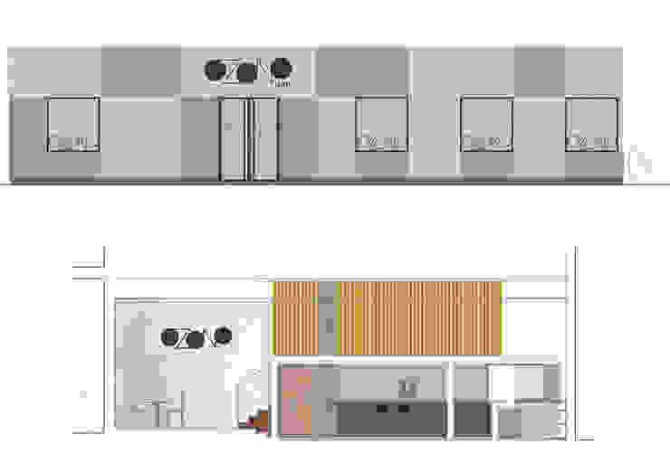 alzados gráficos Gastronomía de estilo industrial de interior03 Industrial