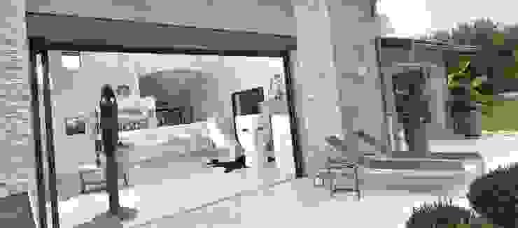 Rénovation Maison 80's Lyon France Maisons modernes par Agence Philippe BATIFOULIER Design Moderne