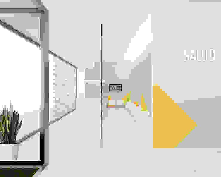 Croquis zona de recepción y espera Clínicas de estilo escandinavo de interior03 Escandinavo