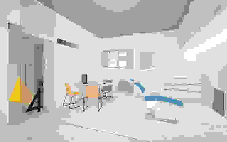 Croquis vista consulta Clínicas de estilo escandinavo de interior03 Escandinavo