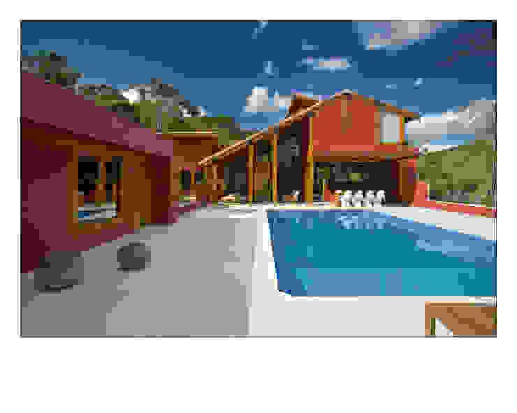 Casa da Mata 3 Piscinas campestres por David Guerra Arquitetura e Interiores Campestre