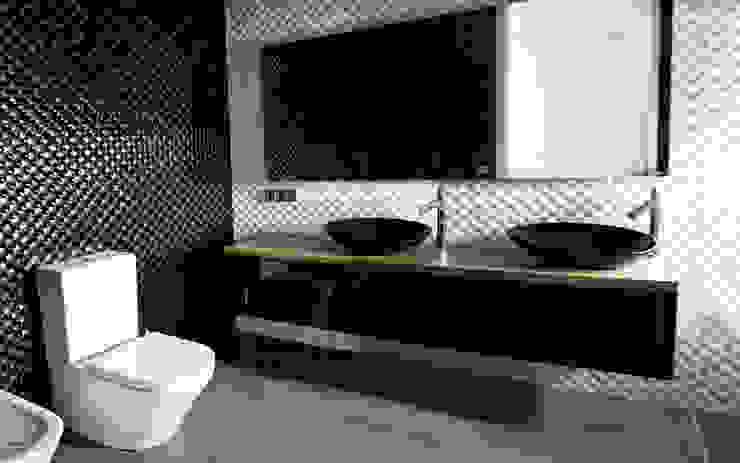baño de la habitación principal de CEL-RAS Moderno