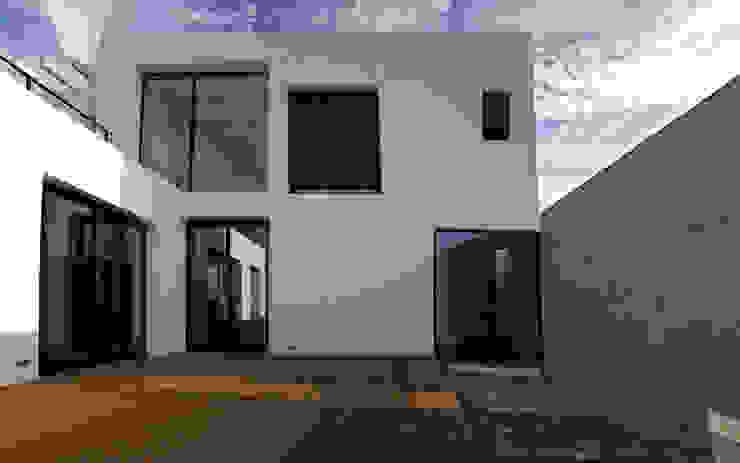 vista exterior de la terraza y piscina de CEL-RAS Moderno