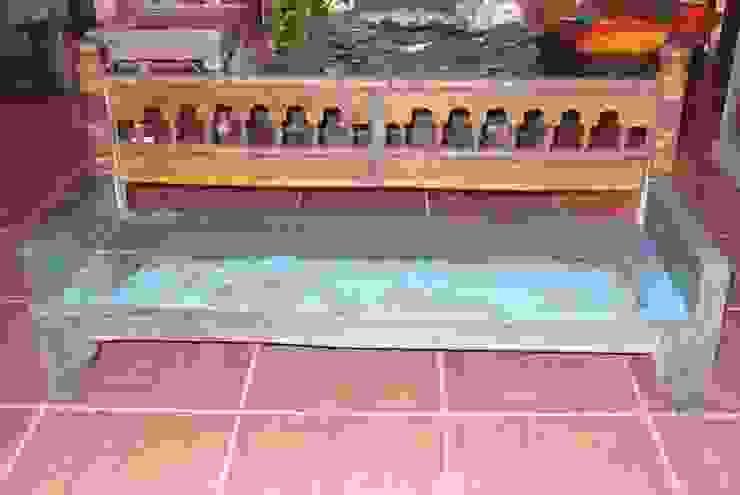 Banco de teca antigua pintada de Salablanca furniture and Decoration