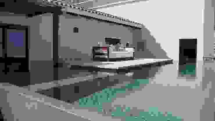 OUTDOOR LIVING LOS CABOS BY DIAZ DE LUNA Balcones y terrazas modernos de DIAZ DE LUNA SIGNATURE Moderno