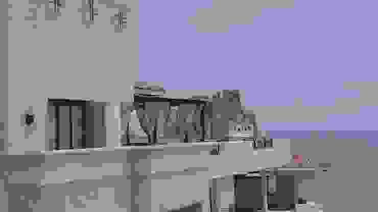 OUTDOOR LIVING LOS CABOS BY DIAZ DE LUNA: Terrazas de estilo  por DIAZ DE LUNA SIGNATURE , Moderno