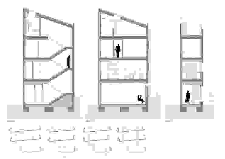 Vivienda unifamiliar y local comercial ADDEC arquitectos Casas de estilo ecléctico