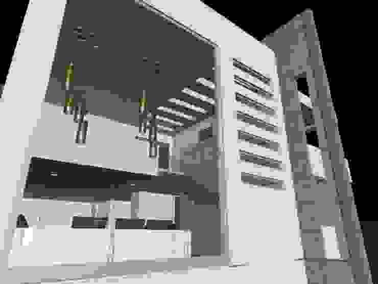 casa Espiritu Santo Salones minimalistas de CESAR MONCADA S Minimalista