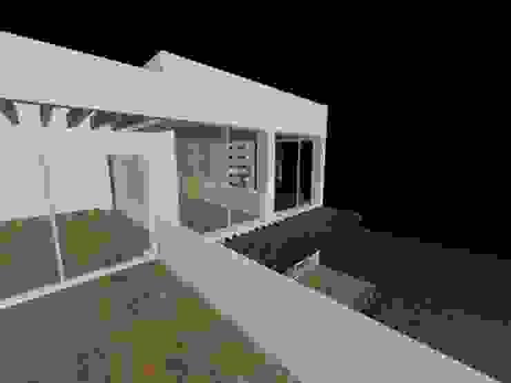 casa Espiritu Santo Balcones y terrazas minimalistas de CESAR MONCADA S Minimalista