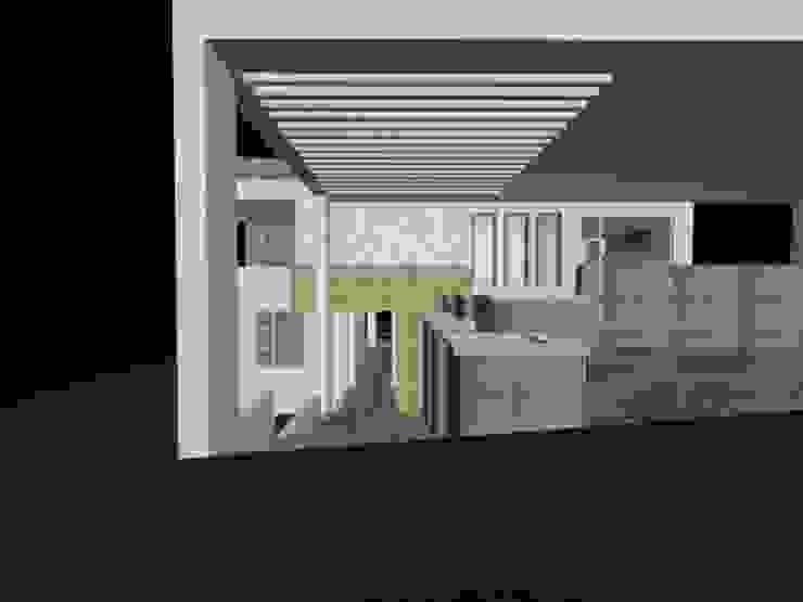 casa Espiritu Santo Garajes minimalistas de CESAR MONCADA S Minimalista