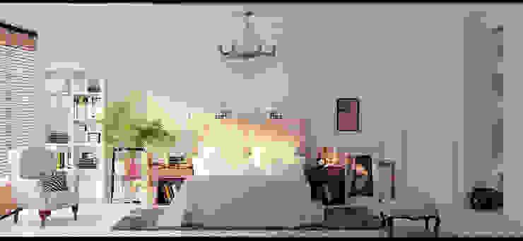 Белоснежная квартира в скандинавсом стиле для косметолога. Спальня в скандинавском стиле от Котова Ольга Скандинавский
