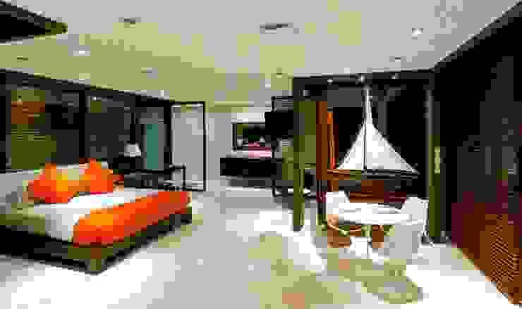 arqflores / architect Nowoczesna sypialnia