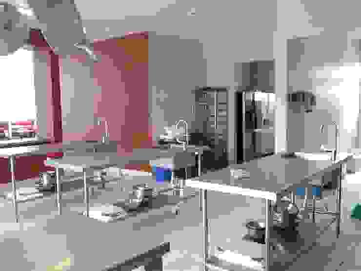 Área de cocina, estudio y elaboración de alimentos de CESAR MONCADA SALAZAR (L2M ARQUITECTOS S DE RL DE CV) Moderno