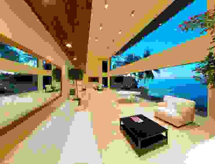 Condominio frente al mar Salones modernos de arqflores / architect Moderno