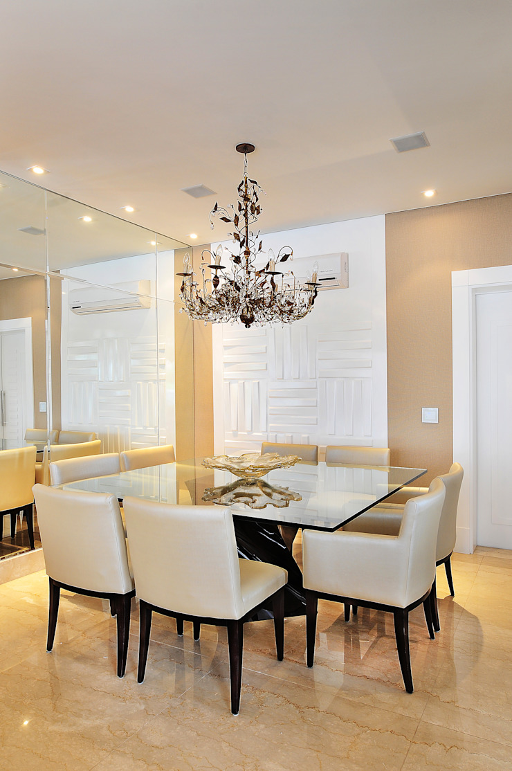 Projeto Identidade Brasileira - Sala de Jantar Adriana Scartaris: Design e Interiores em São Paulo Salas de estar modernas