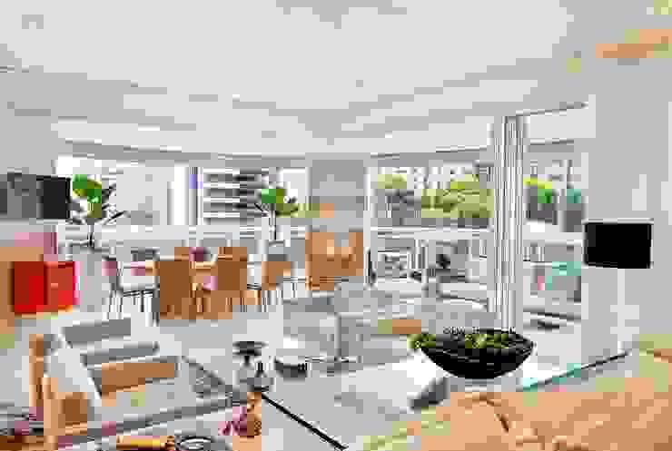 Modern living room by Adriana Scartaris: Design e Interiores em São Paulo Modern