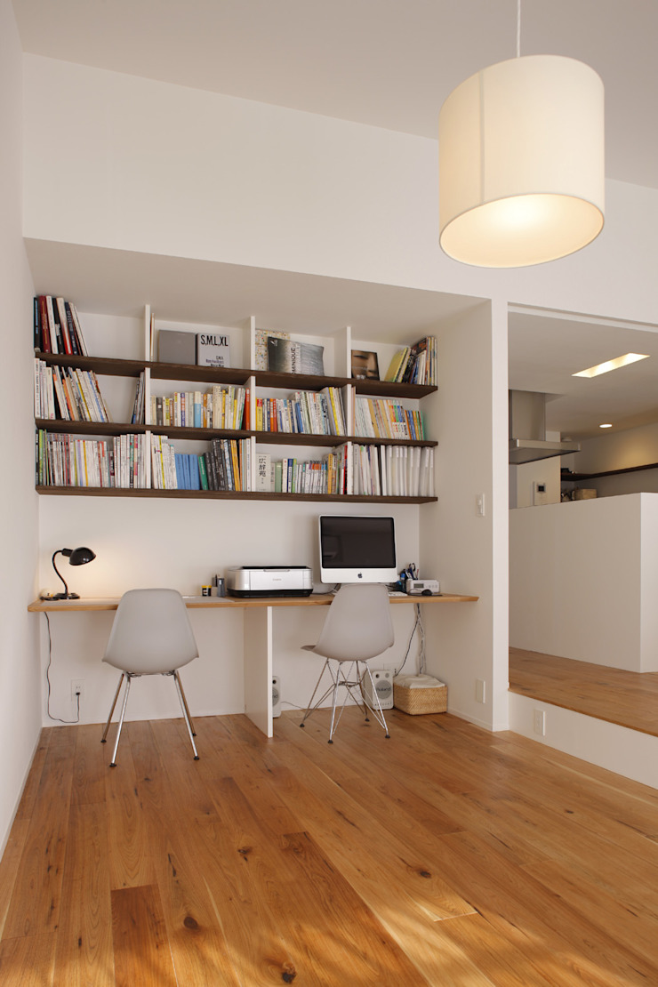 Minimalst style study/office by ニュートラル建築設計事務所 Minimalist