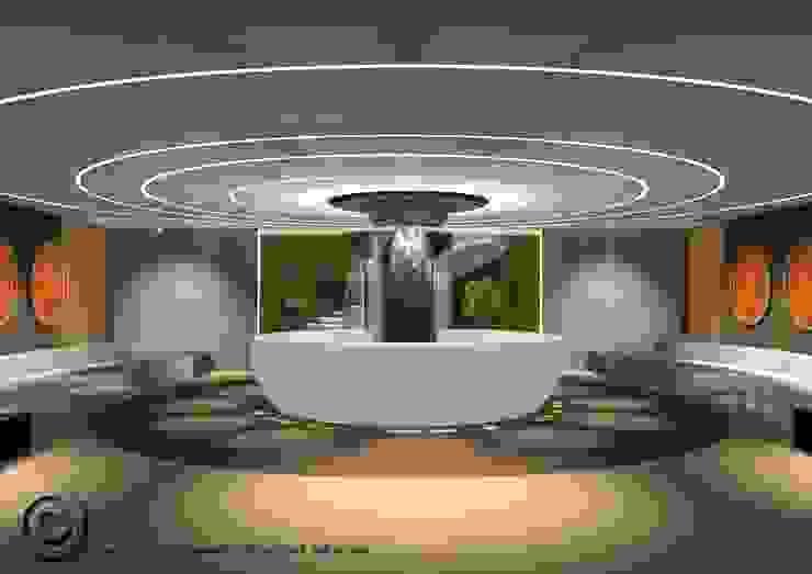 New hall Hotel Hotel moderni di Masi Interior Design di Masiero Matteo Moderno