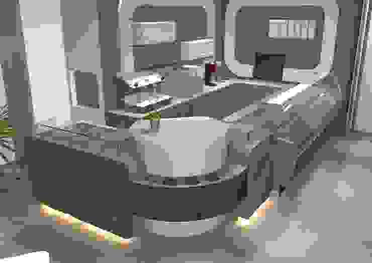 Gelateria Ebersberg Centri commerciali in stile eclettico di Masi Interior Design di Masiero Matteo Eclettico