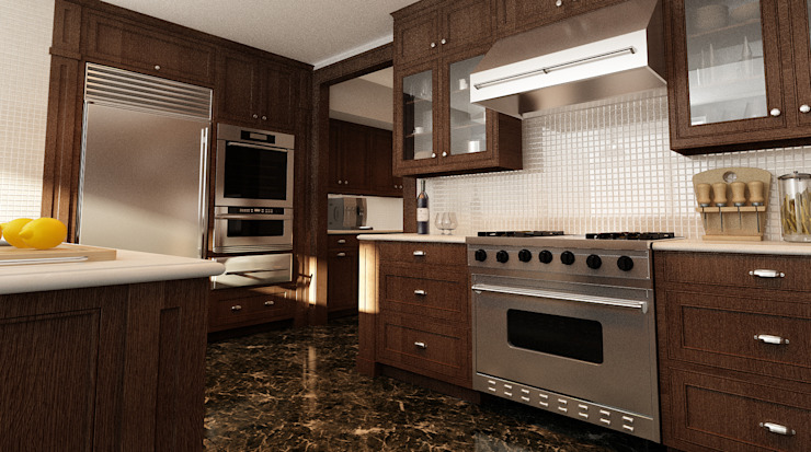 Cucina Cucina in stile industriale di Studio di Programmazione e Rendering Ponzanelli Industrial