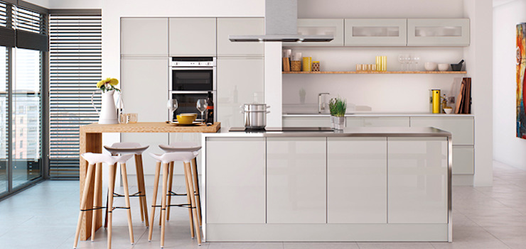 Handleless Kitchens Leicester de The Leicester Kitchen Co Moderno
