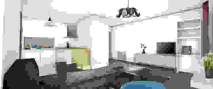 Projet de décoration solidaire Maisons modernes par Camille&Tifany Moderne